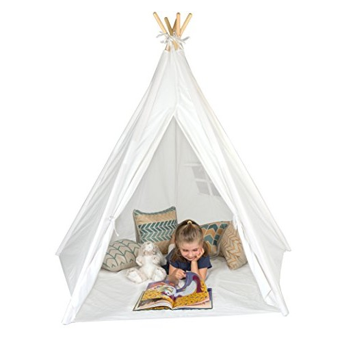 6' Giant Teepee Play House of Pine Wood with Carry Case by Trademark Innovations
