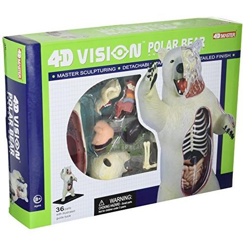 4D Master Vision Polar Bear Anatomy Model Science Kit One Color 26097