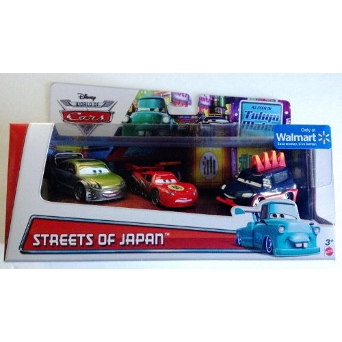 Disney World of Cars Toon Streets of Japan Set (Dragon McQueen with Oil Stains