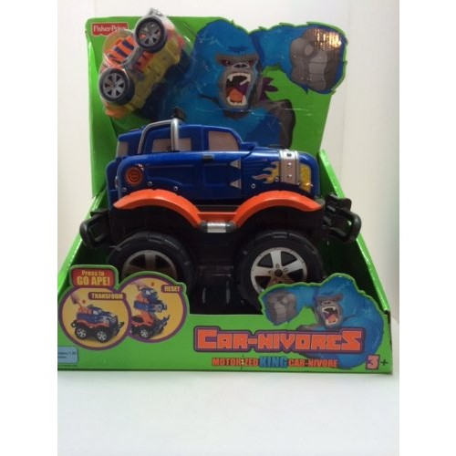2007 Fisher Price Motorized King Car-nivore Go Ape Monster Truck