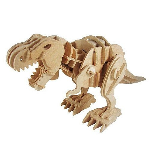 KINGZER 3D Assembly Toy Electronic Wood Moving Dinosaur Remote Control T-REx UK