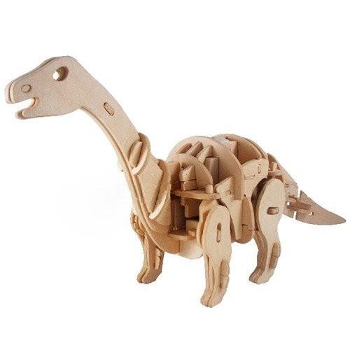 KINGZER Electronic Wood Walking Dinosaur Kid Baby 3D Assembly Toy Apatosaurus UK
