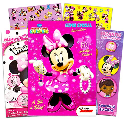 - Disney Minnie Mouse Coloring Book Bundle -- 3 Pack Books With Stickers  Minnie Party Supplies Pack - Educational Toys Planet