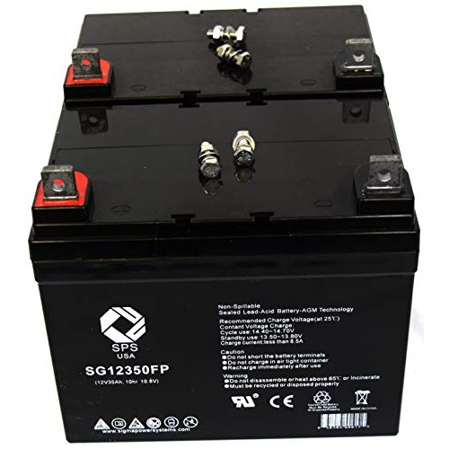 SPS Brand 12V 35Ah SLA Replacement Battery for Leisure Lift Pace Saver Burke Mobility
