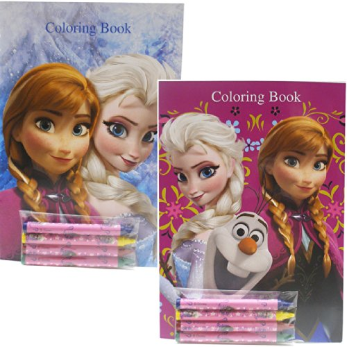 Disney Frozen Coloring Books Elsa Anna and Olaf 2 Books