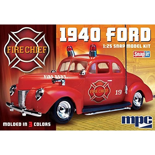 CPM MPC 1:25 Scale 1940 Ford Fire Chief Snap Kit