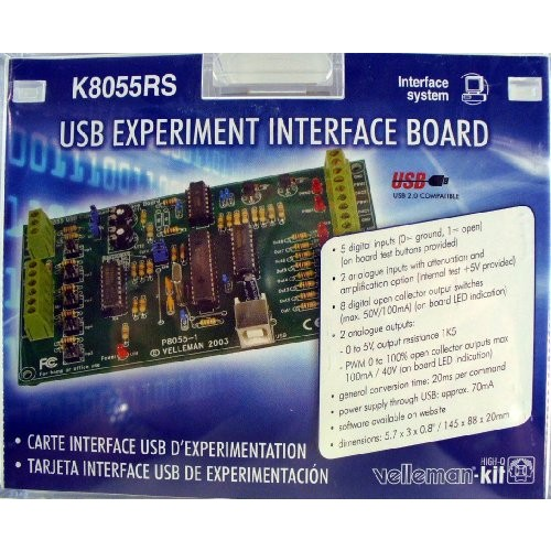 VELLEMAN K8055RS USB ExPERIMENT INTERFACE BOARD KIT by