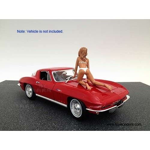 American Diorama Figurine – Car Wash Girl Barbara Figure (1/18 scale White) 23844 diecast