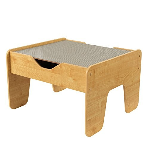 KidKraft 2-in-1 Activity Table with Board Gray Natural