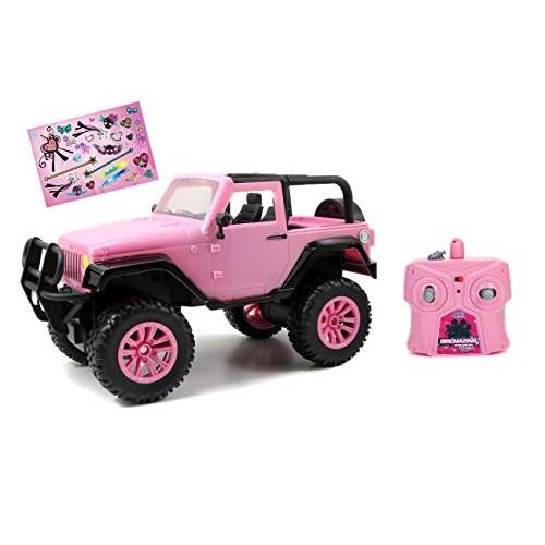Jada Toys GIRLMAZING Big Foot Jeep R/C Vehicle (1:16 Scale) Pink