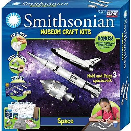 Smithsonian Space Perfect Cast Museum Paint Display and Learn Craft Kit