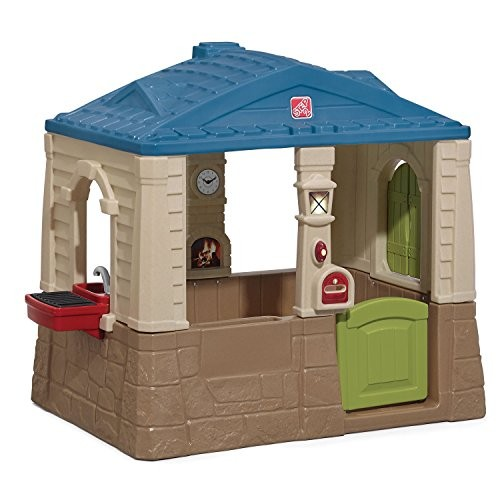 Step2 Happy Home Cottage & Grill Kids Playhouse Blue