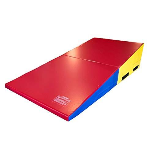 IncStores Gymnastics Wedge Shape Incline Mats – Rainbow 14 Tall x 24 Wide 33 Long