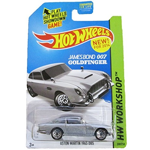 Hot Wheels 2014 HW Workshop James Bond 007 Goldfinger Aston Martin 1963 DB5 200/250