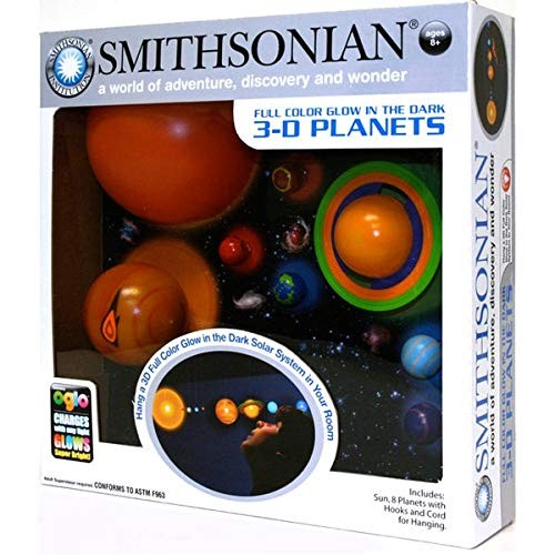 Glowing Planets Room Decor Hanging Kit hooks and cord Oglo charges w any light