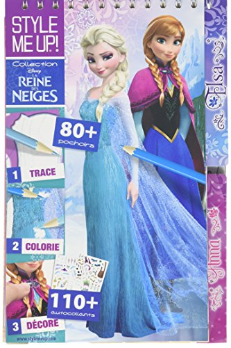 Style Me Up – Fashion Design Disney Coloring Book for Girls Set of Stencils and Stikers Frozen Collection SMU-1477