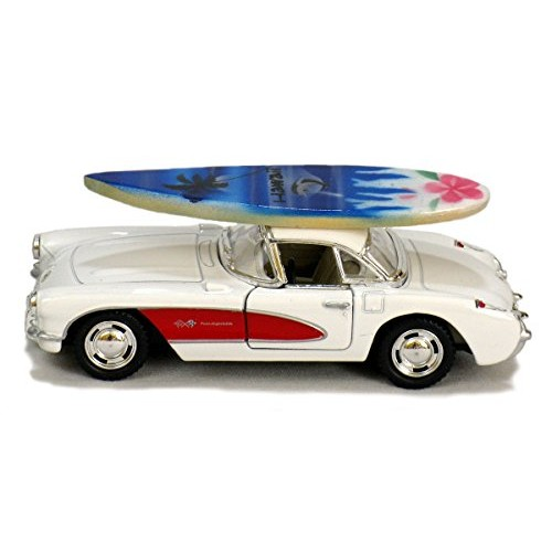 1957 Chevy Corvette Hawaiian Collectible Car with Surfboard