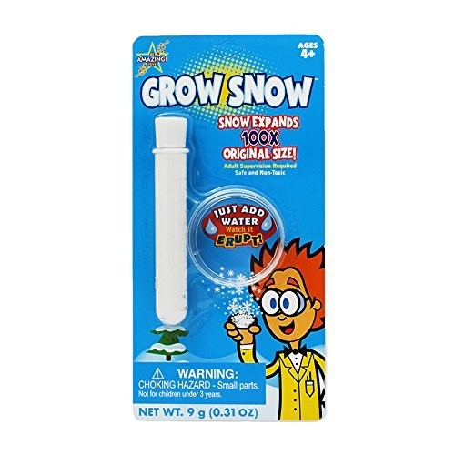 BE AMAZING TOYS GROW SNOW BLISTER CARD Set of 3