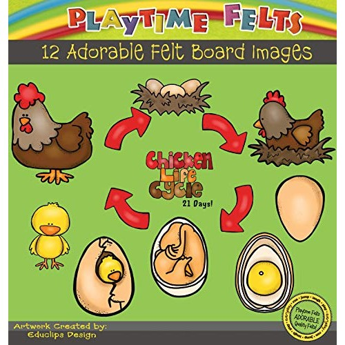 Playtime Felts Chicken Life Cycle Flannel Board Story Set