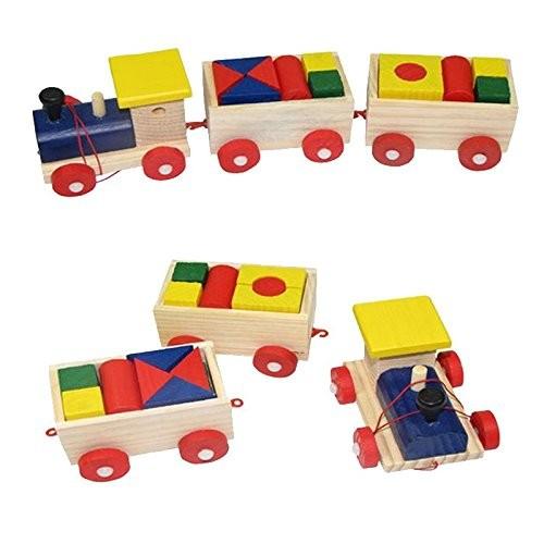 wooden blocks car building toys for children Exempt postage