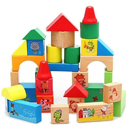 33 PCS fruit world building blocks wooden children's educational toys