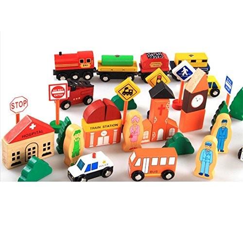 City Traffic Building Blocks Wooden Toys Montessori For Children Education