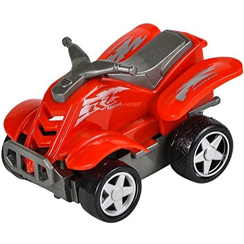 Rhode Island Novelty Rev Up and Go Friction 4 Red ATV All Terrain Vehicle