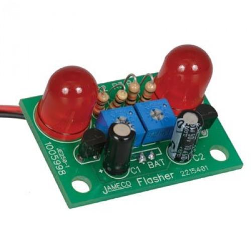 Jameco Kitpro JE250 Red Jumbo LED Flasher Electronics Solder Kit