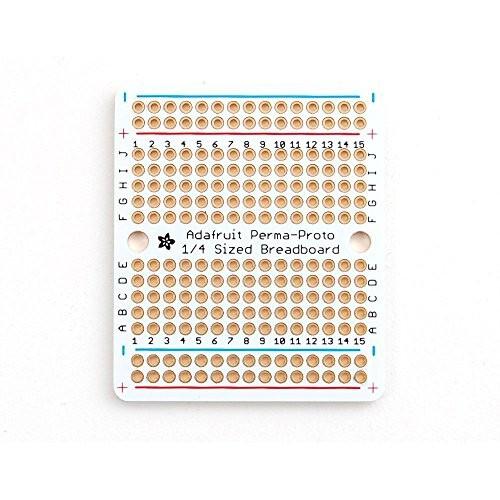Adafruit Accessories Perma-Proto Quarter Sized Breadboard 3ct 1 piece