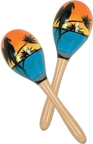 Luau Solid Wood Tropical Fun Party Maracas – 8 12 Pieces Product Description Throw A Fun-Filled And Decorate The Venue With These It Is Made Of Imprinted Beautiful S
