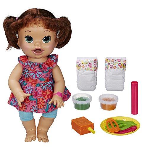 Baby Alive Super Snacks Snackin Sara Brunette Dress color may vary