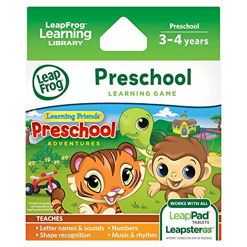 LeapFrog Learning Friends Preschool Adventures Game for LeapPad3 LeapPad2 LeapPad1 Leapster Explorer LeapsterGS Explorer