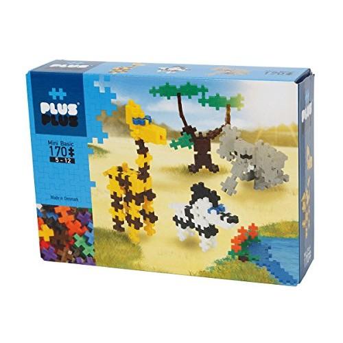 PLUS – Instructed Play Set 170 Piece Safari Construction Building Stem Steam Toy Interlocking Mini Puzzle Blocks for Kids