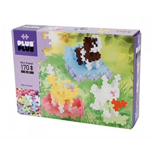 PLUS – Instructed Play Set 170 Piece Pets Construction Building Stem Toy Interlocking Mini Puzzle Blocks for Kids