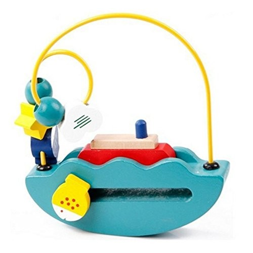 Baby Learning & Education Wooden Toys Boat Building Blocks Around The Bead