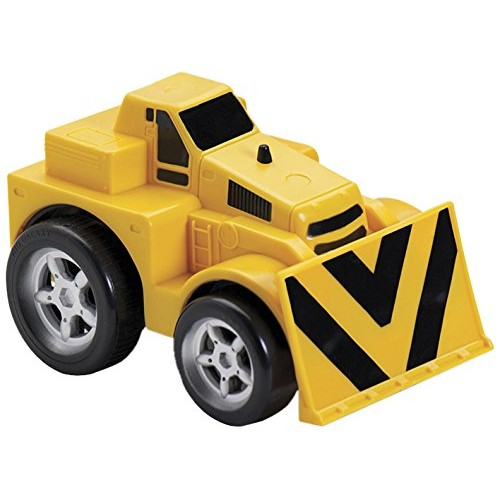 Kid Galaxy Squeezable Pull Back Bull Dozer Toddler Construction Truck for Kids Age 2
