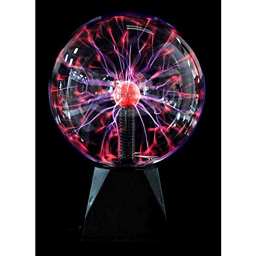 PowerTRC Non Battery Powered Lightning Plasma Globe 8 x 12'' Switch Position Feature Responds to Touch and Sound