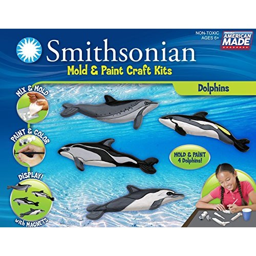 Smithsonian Dolphins PerfectCast Cast Paint Display and Learn Craft Kit