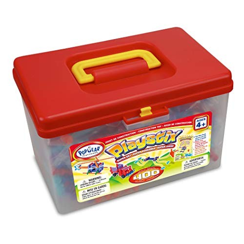 Popular Playthings Playstix Super Set Construction Toy Building Blocks 400 Piece Kit