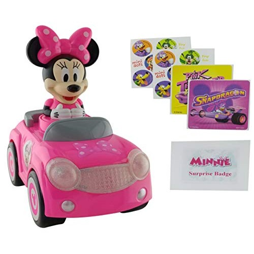 Minnie Mouse Car Bundle: 3 Items   New Push and Go Racer with Lights