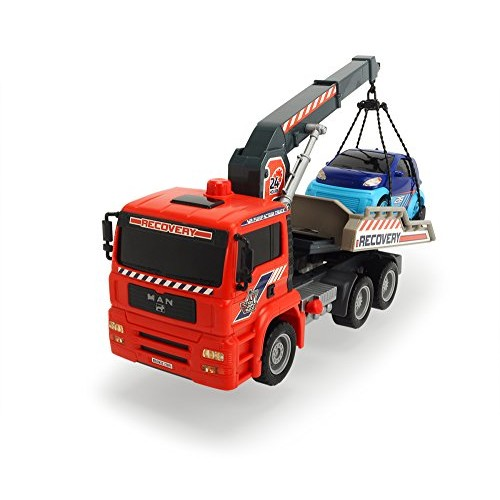 Dickie Toys 12 Air Pump Action Tow Truck with Crane Vehicle