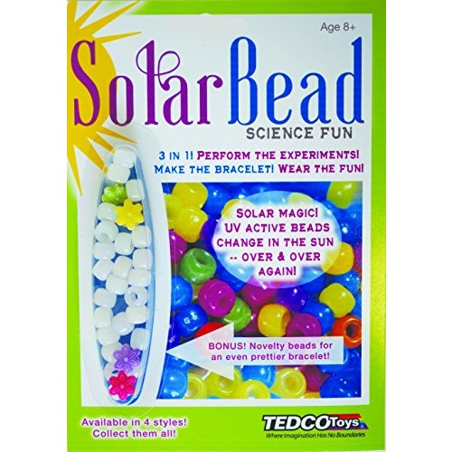 TEDCO Solar Bead Science Fun Age 8+ – Learn About UV Light While Making Your Special Bracelet