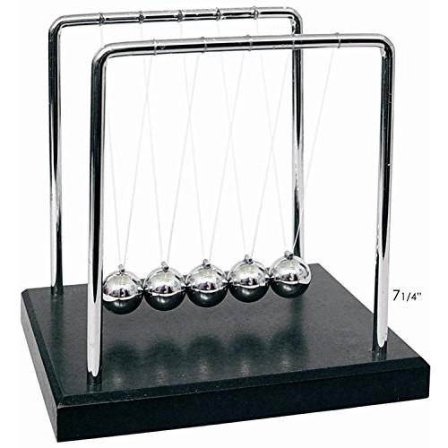 PowerTRC Newtons Cradle Balance Balls 7 1 4 Science Physics Gadget Desk Toys & Accessories