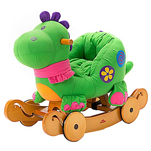 Labebe – Baby Rocking Horse Dinosaur Ride On Toy Kid Green Rocker for 1-3 Year Old Infant Boy&Girl Plush Animal Toddler Stuffed Outdoor&Indoor Child Birthday Gift