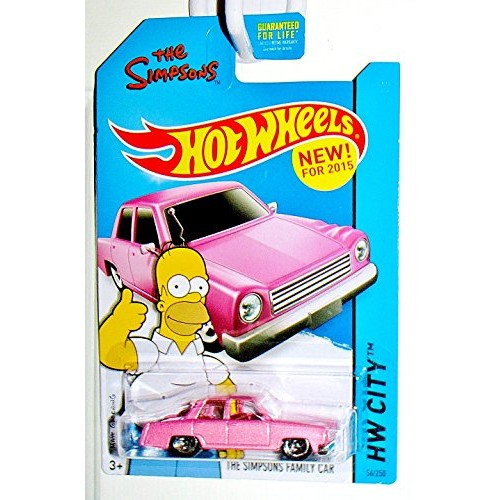 Hot Wheels 2015 HW City The Simpsons Family Car 56/250 Pink
