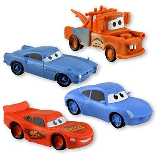 Disney Cars Set of 4 Figurines (Lightning McQueen Sally Mater & Finn)