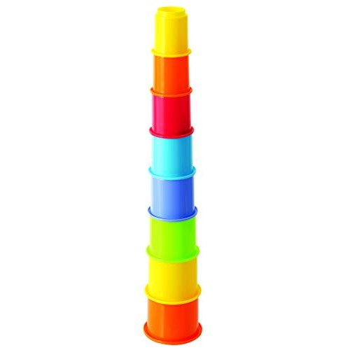 PlayGo My First Year Rainbow Stacking Cups Baby Toys Educational Toddler Top Blocks Game Kit BPA Free for 1 2 3 4-5 Old Girls Boys