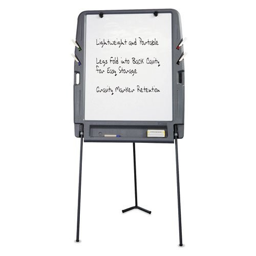 Portable Flipchart Easel With Dry Erase Surface Resin 35 x 30 73 Charcoal