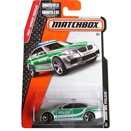 Matchbox 2015 MBX Heroic Rescue BMW M5 Police Car 53/120 Gray
