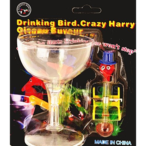 C&H Solutions Amazing Happy Mini Fancy Scientific Drinking Water Bird Dipping with Champagne Plastic Cup by